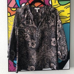 NWOT Joie raw silk tunic